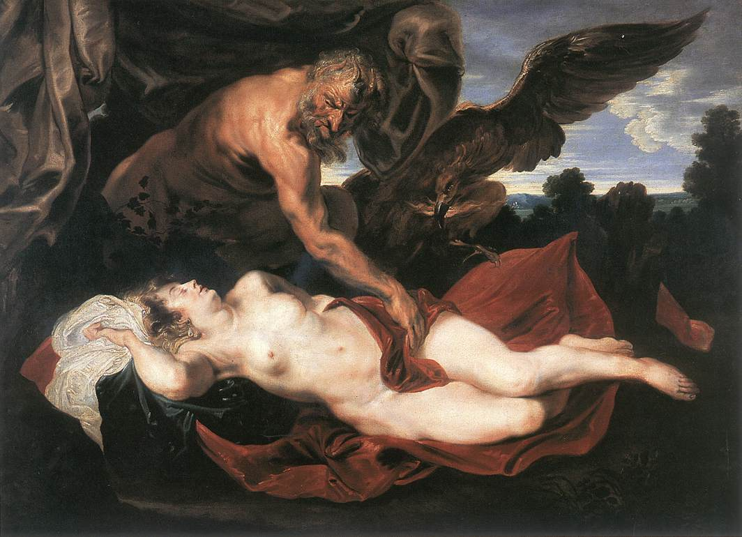 Jupiter And Antiope | Sir Anthony Van Dyck | Oil Painting
