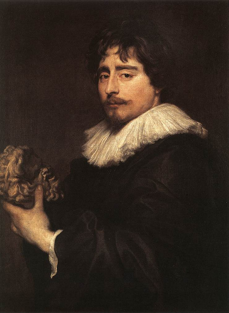 Porrtrait Of The Sculptor Duquesnoy 1627-29 | Sir Anthony Van Dyck | Oil Painting