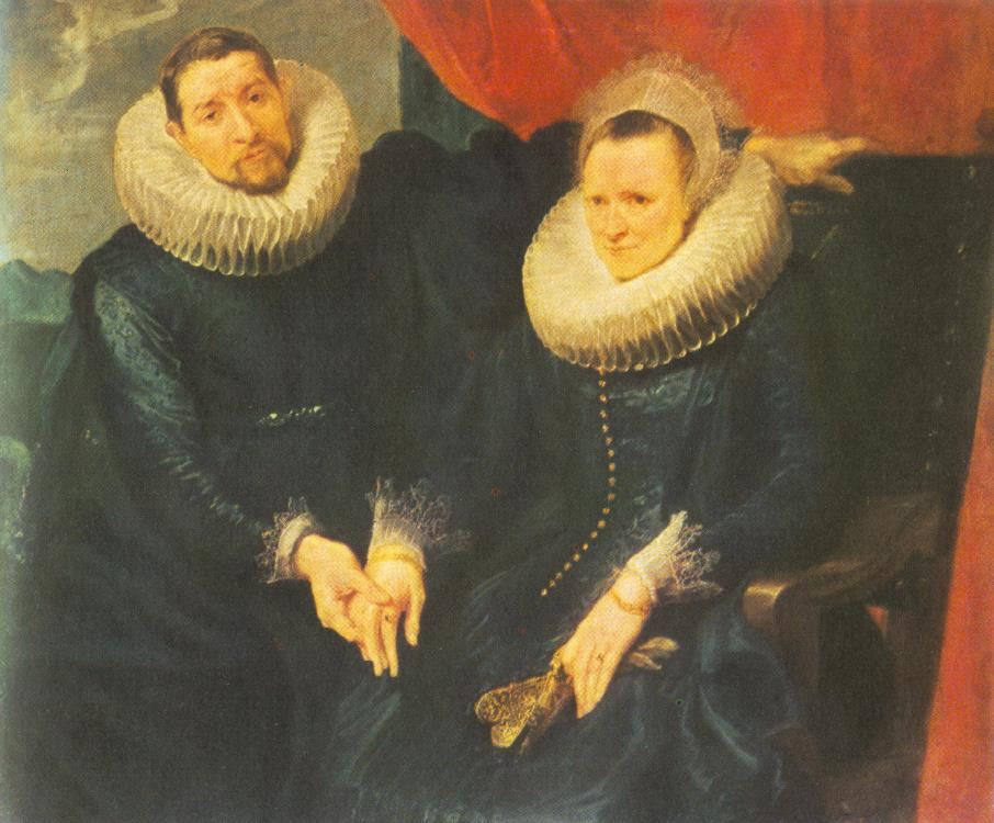 Portrait Of A Married Couple | Sir Anthony Van Dyck | Oil Painting