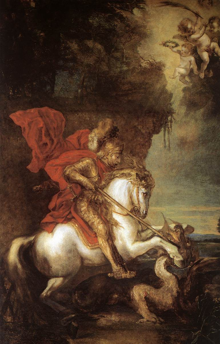 St George And The Dragon | Sir Anthony Van Dyck | Oil Painting