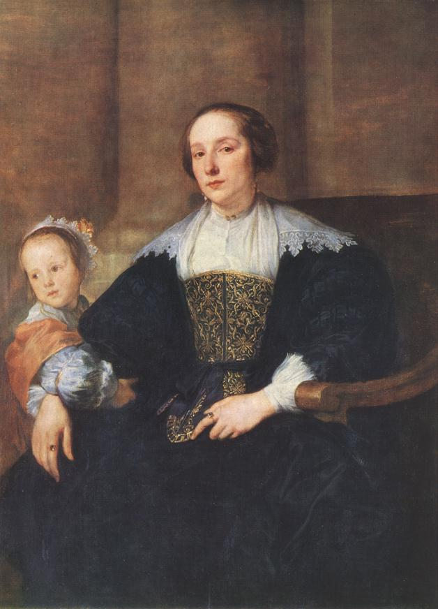 The Wife And Daughter Of Colyn De Nole | Sir Anthony Van Dyck | Oil Painting