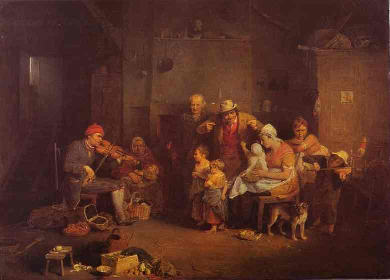 The Blind Fiddler 1806 | Sir David Wilkie | Oil Painting