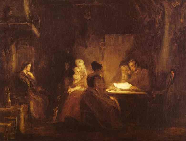 The Cotters Saturday Night 1837 | Sir David Wilkie | Oil Painting