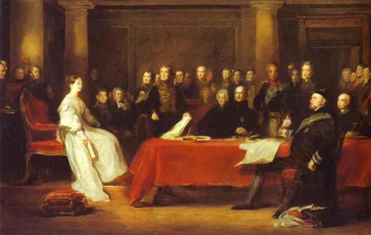 The First Council Of Queen Victoria 1838 | Sir David Wilkie | Oil Painting