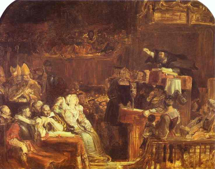 The Preaching Of John Knox Before The Lords Of Congregation 10 June 1559 | Sir David Wilkie | Oil Painting