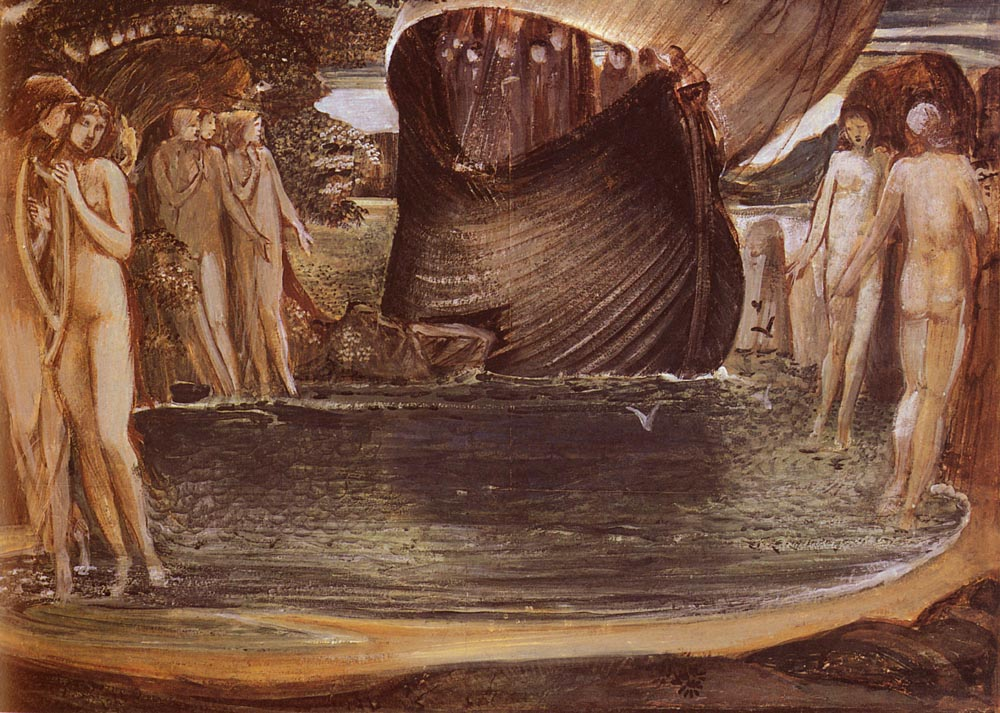 Design For The Sirens | Sir Edward Coley Burne-Jones | Oil Painting