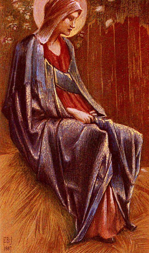 The Virgin   Sir Edward Coley Burne-Jones   Oil Painting