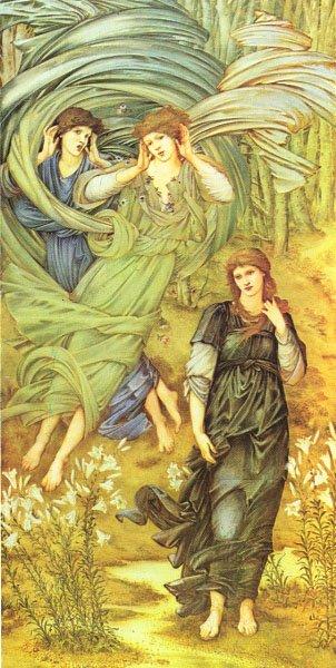 Sponsa de Libano detail | Sir Edward Coley Burne-Jones | Oil Painting