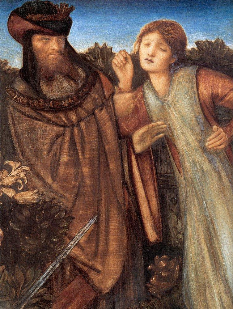 King Mark and La Belle Iseult detail | Sir Edward Coley Burne-Jones | Oil Painting