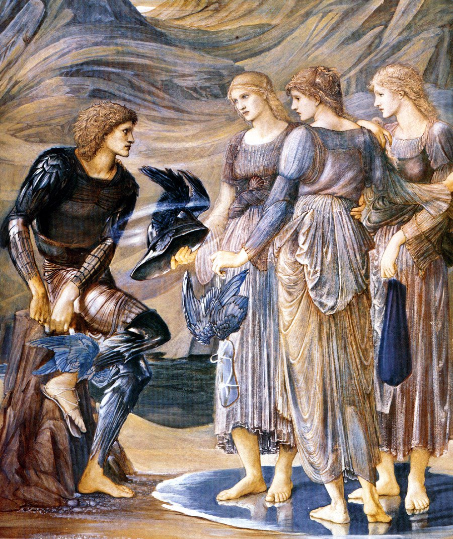 Perseus and the Sea Nymphs 1877 | Sir Edward Coley Burne-Jones | Oil Painting