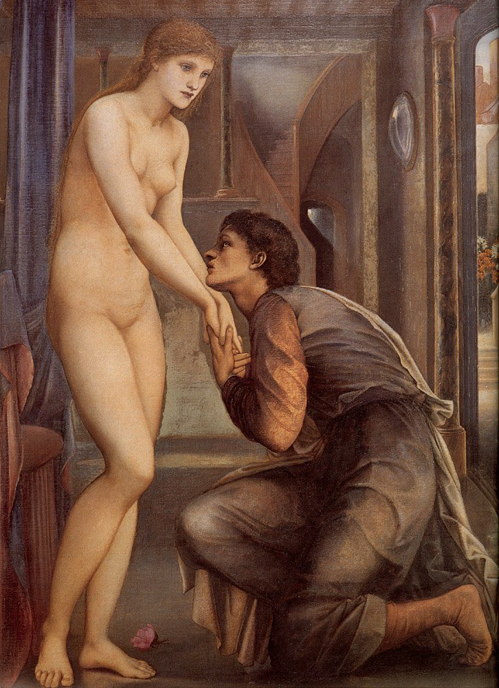 Pygmalion and the Image IV The Soul Attains detail | Sir Edward Coley Burne-Jones | Oil Painting