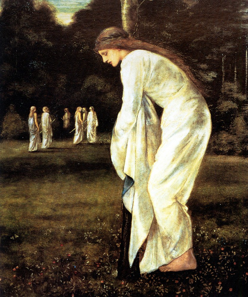 Saint George and The Dragon The Princess Tied to the Tree | Sir Edward Coley Burne-Jones | Oil Painting