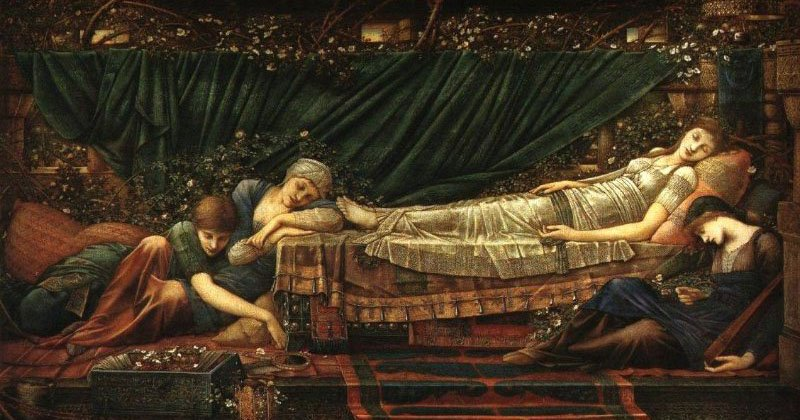 Sleeping Beauty | Sir Edward Coley Burne-Jones | Oil Painting