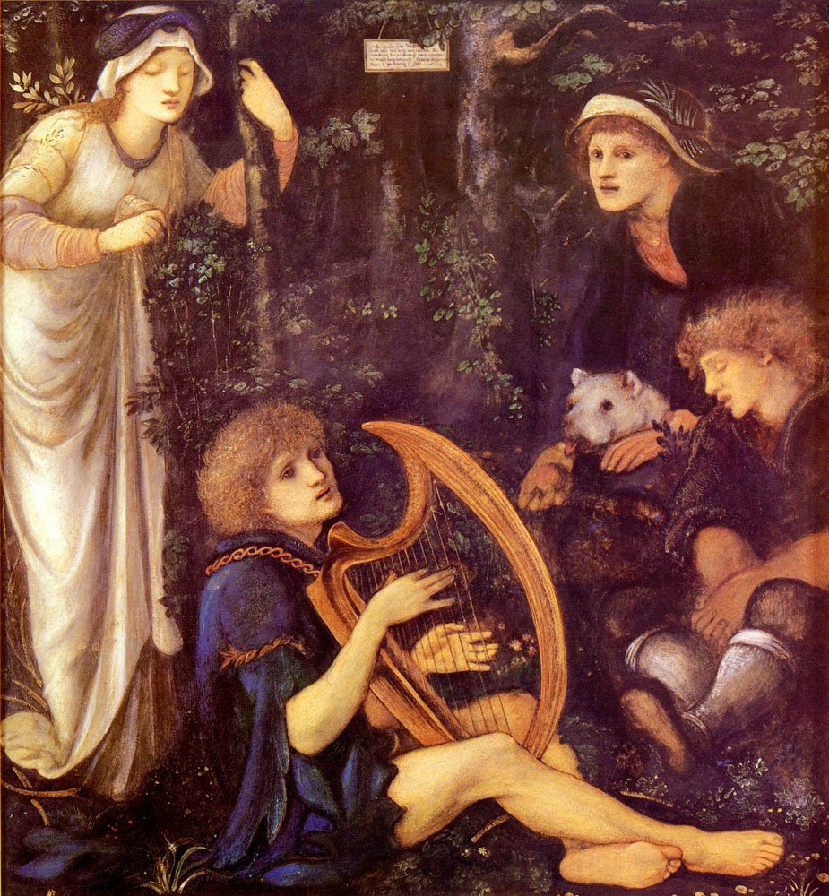 The Madness Of Sir Tristram   Sir Edward Coley Burne-Jones   Oil Painting
