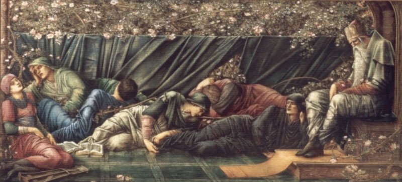 The Briar Rose The Council Chamber | Sir Edward Coley Burne-Jones | Oil Painting