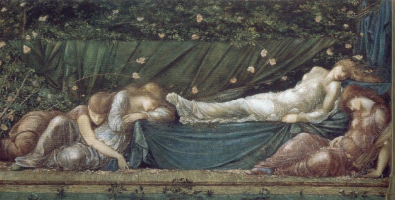 The Briar Rose The Rose Bower | Sir Edward Coley Burne-Jones | Oil Painting