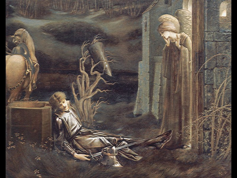 The Dream of Launcelot at the Chapel of the San Graal | Sir Edward Coley Burne-Jones | Oil Painting