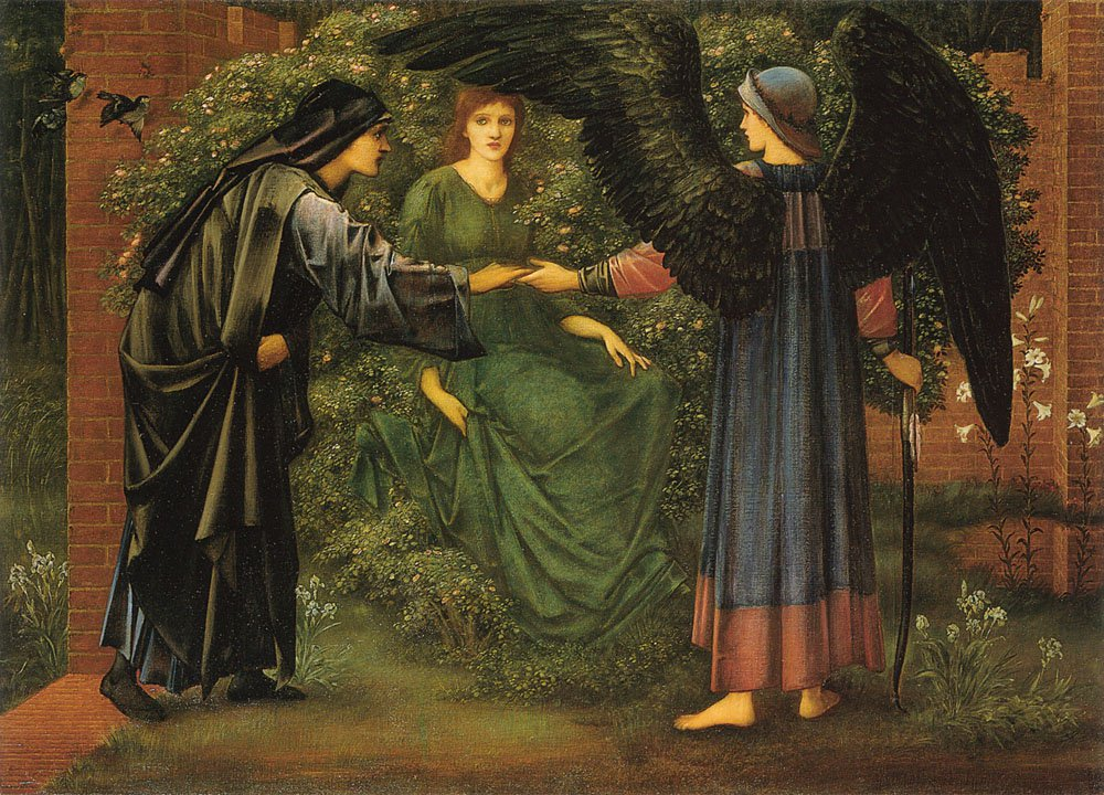 The Heart of the Rose | Sir Edward Coley Burne-Jones | Oil Painting
