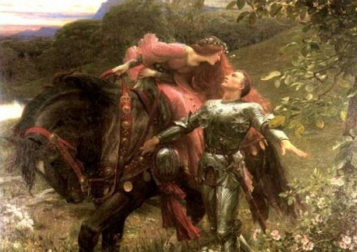 La Belle Dame Sans Merci 1902 | Sir Frank Dicksee | Oil Painting
