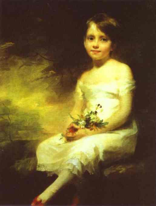 A Little Girl Carrying Flowers   Sir Henry Raeburn   Oil Painting