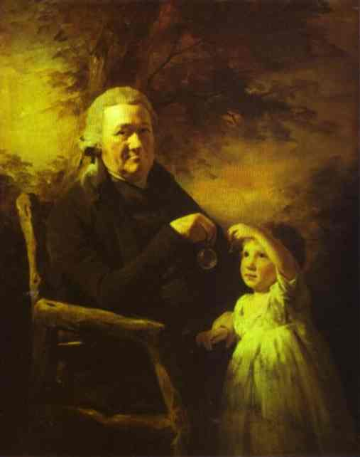 Portrait Of John Tait And His Grandson 1793 | Sir Henry Raeburn | Oil Painting