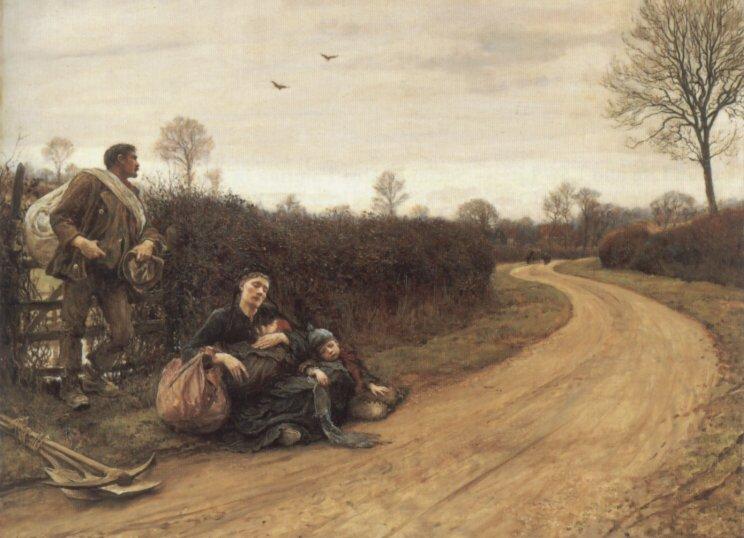 Hard Times | Sir Hubert Von Herkomer | Oil Painting