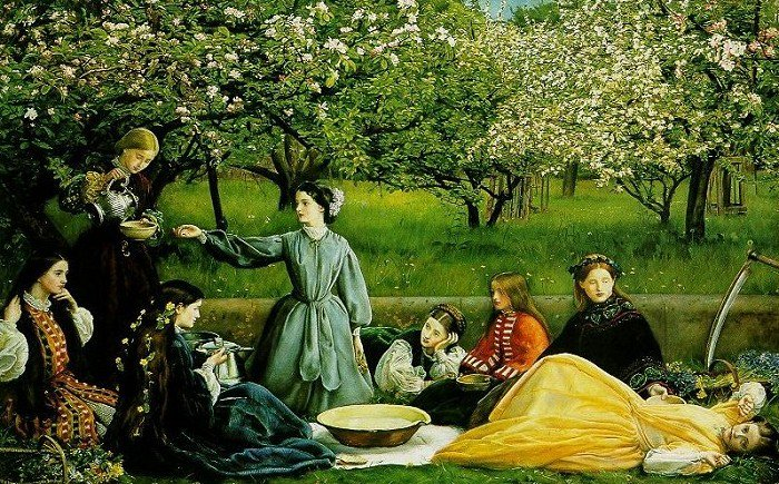 Apple Blossoms 1856-59 | Sir John Everett Millais | Oil Painting