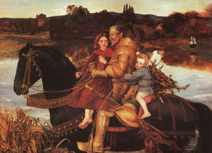 A Dream Of The Past Sir Isumbras At The Ford 1857 | Sir John Everett Millais | Oil Painting