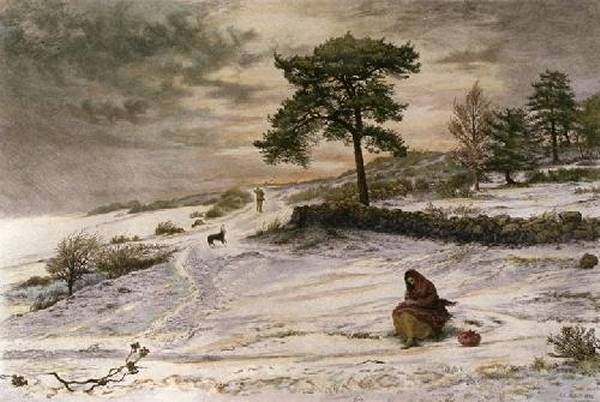 Blow Blow Thou Winter Wind | Sir John Everett Millais | Oil Painting