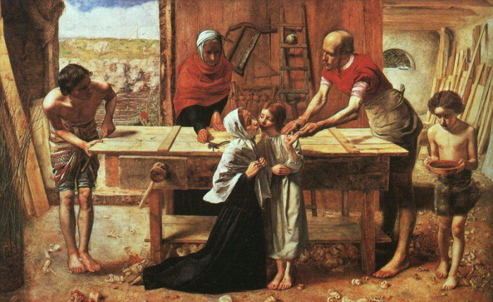 Christ In The House Of His Parents 1849-50 | Sir John Everett Millais | Oil Painting