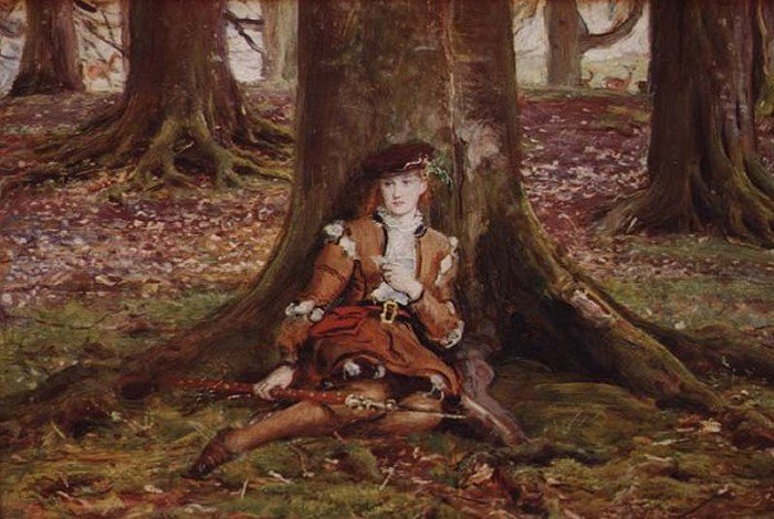 Rosalind In The Forest | Sir John Everett Millais | Oil Painting