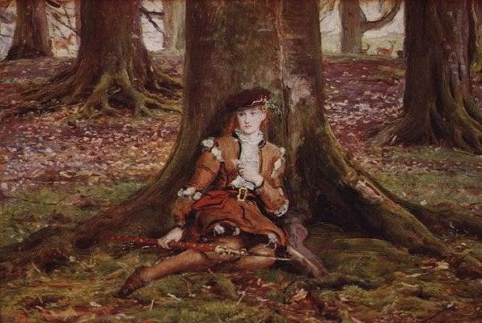 Rosalind In The Forest | Sir John Everett Millais | Oil Painting