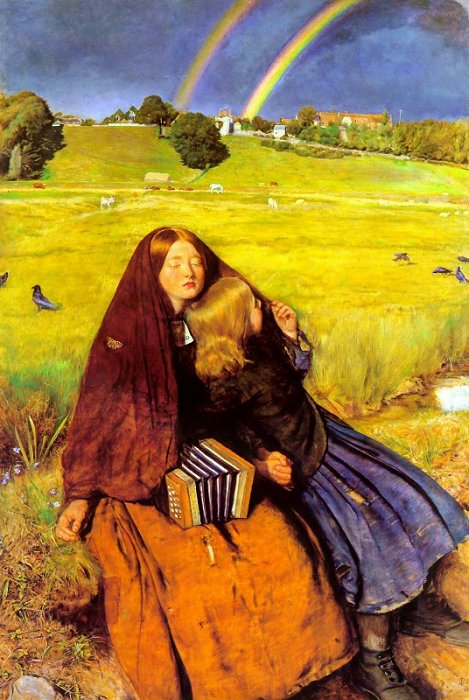 The Blind Girl 1854-56 | Sir John Everett Millais | Oil Painting