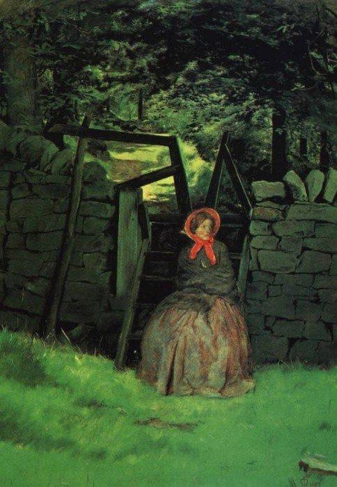 Waiting 1854 | Sir John Everett Millais | Oil Painting