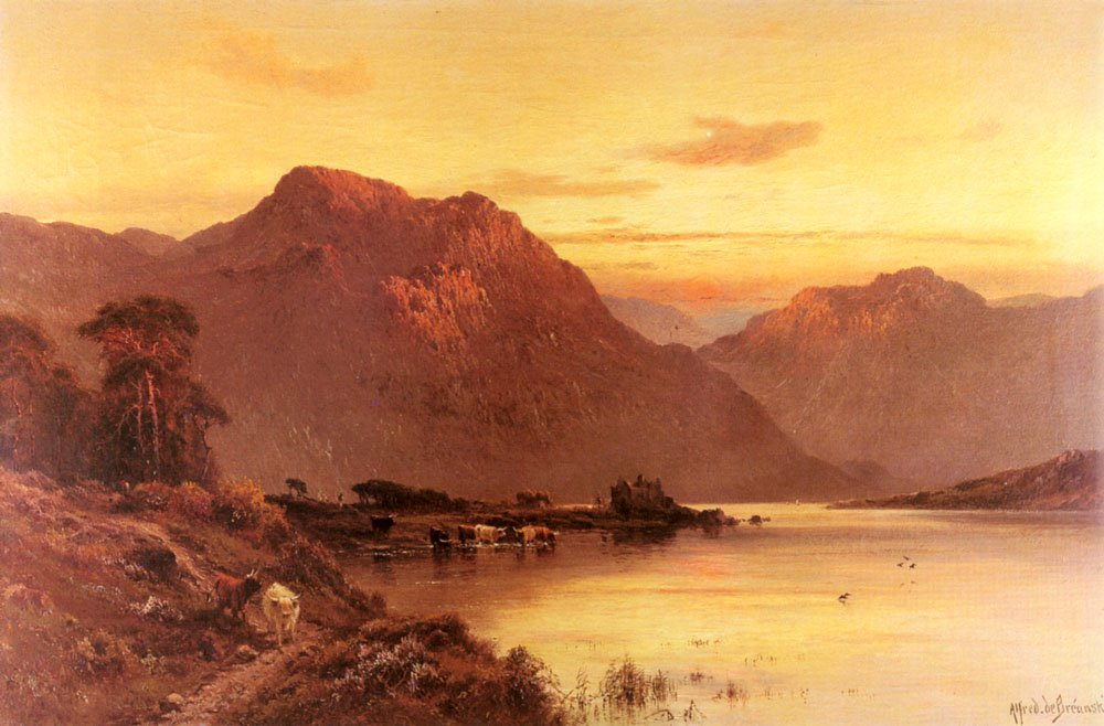 From The Bramber Pass | Alfred De Breanski Snr | Oil Painting