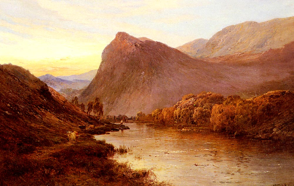 Sunset In The Glen | Alfred De Breanski Snr | Oil Painting