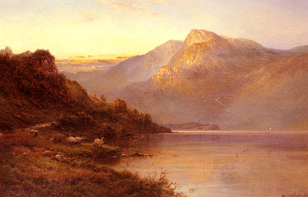 Sunset On The Loch | Alfred De Breanski Snr | Oil Painting