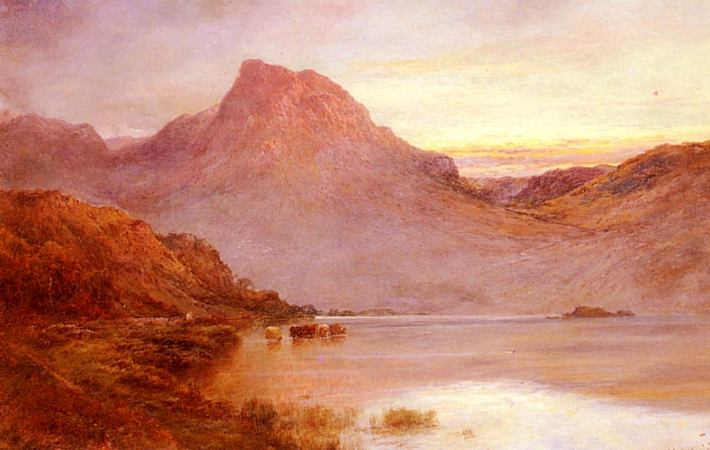 The Evening Glow  Near Arrochar | Alfred De Breanski Snr | Oil Painting