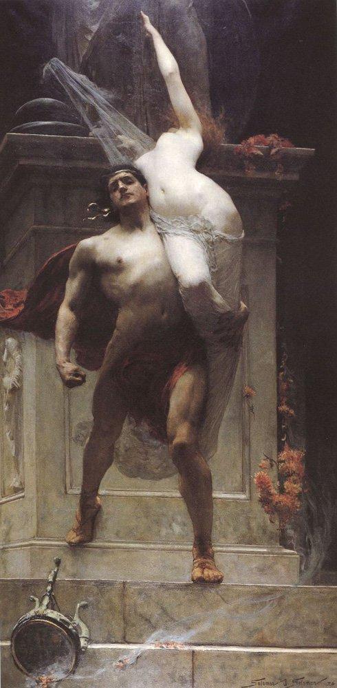 Ajax and Cassandra | Solomon J Solomon | Oil Painting
