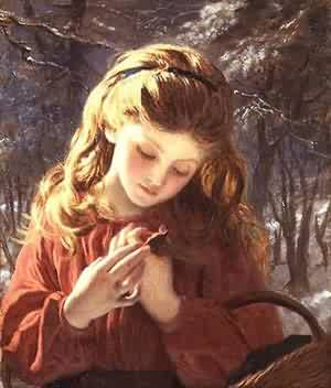 A New Friend | Sophie Anderson | Oil Painting