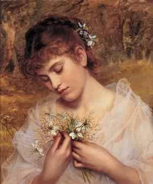 Love In A Mist | Sophie Anderson | Oil Painting