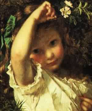 Peek A Boo | Sophie Anderson | Oil Painting