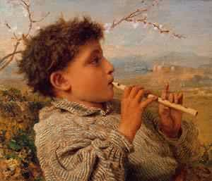 Shepherd Piper 1881 | Sophie Anderson | Oil Painting