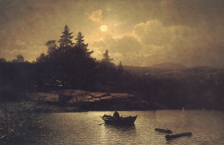 Fishing by Moonlight | Sophus Jacobsen | Oil Painting