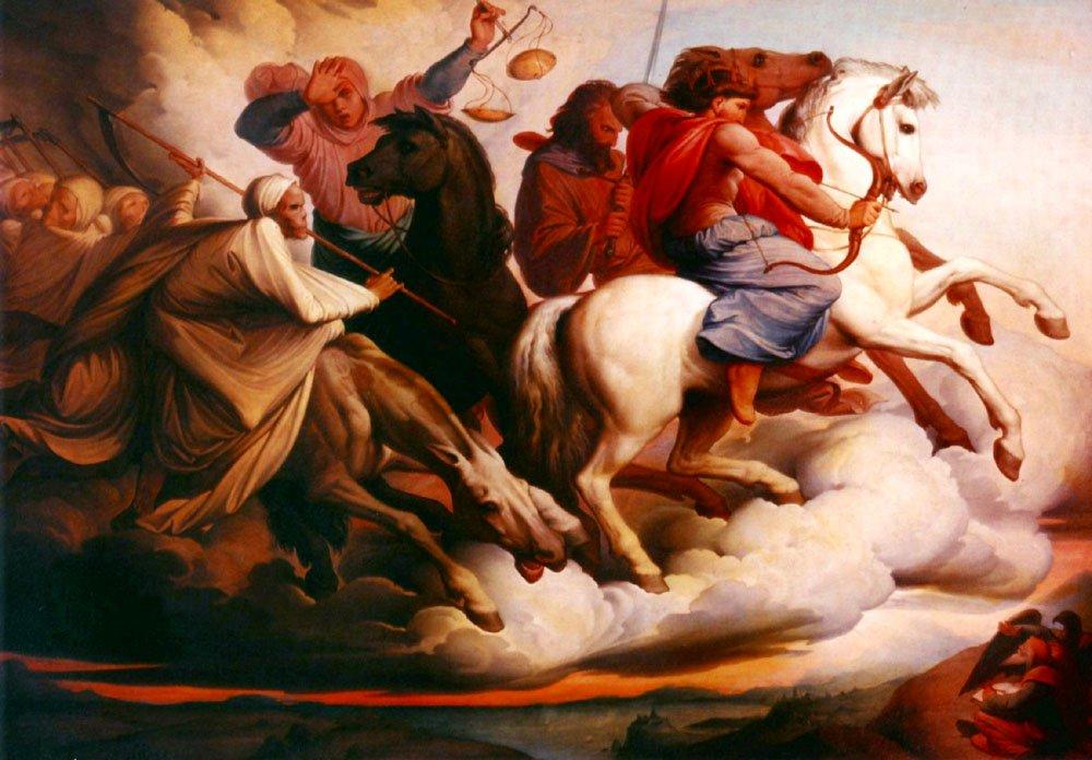 Four Horsemen | Edward Jacob von Steinle | Oil Painting