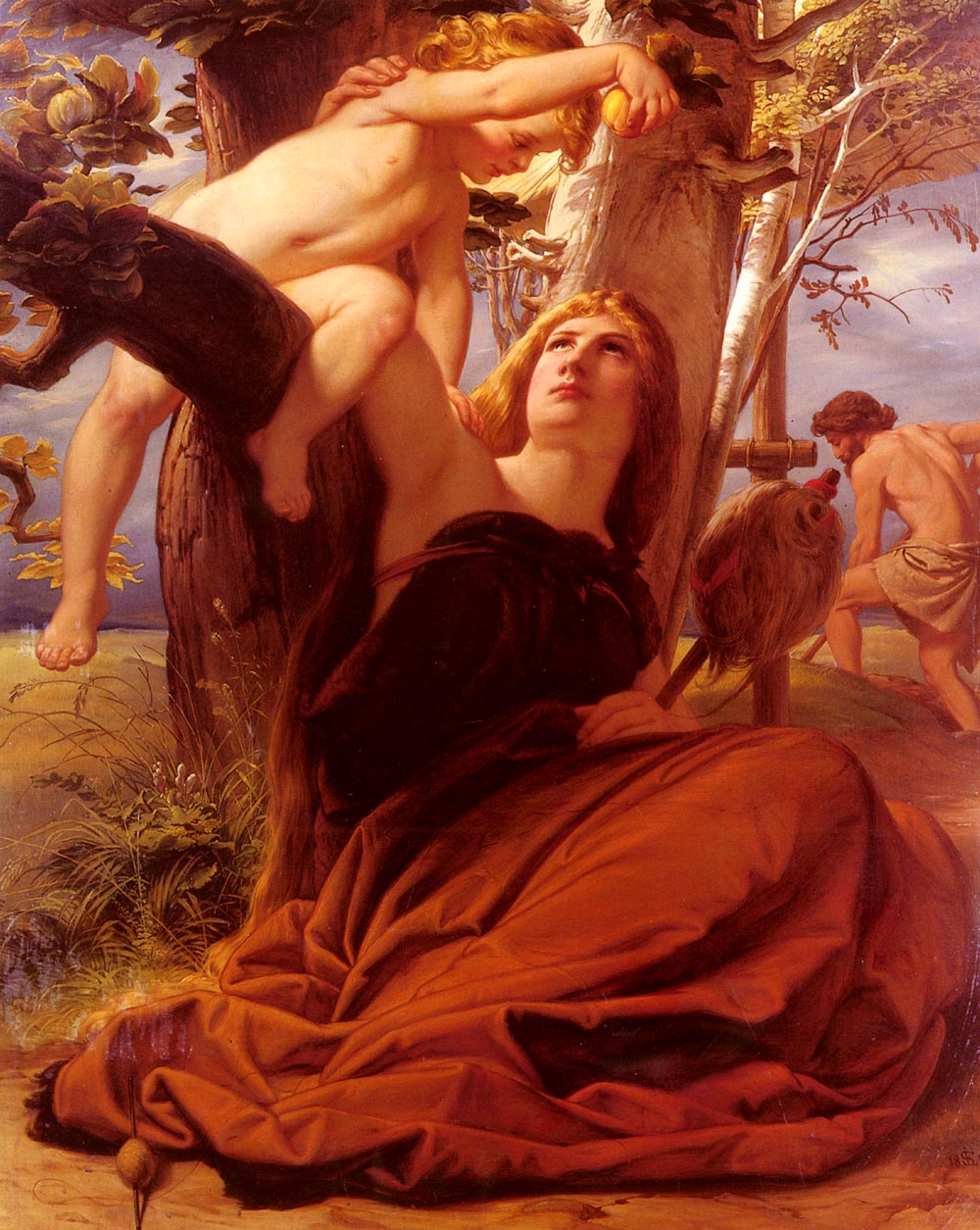 Adam And Eve After The Fall | Edward Jacob von Steinle | Oil Painting