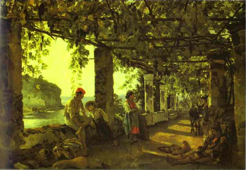 A Porch Twined With Vines 1828 | Sylvestor Shchedrin | Oil Painting