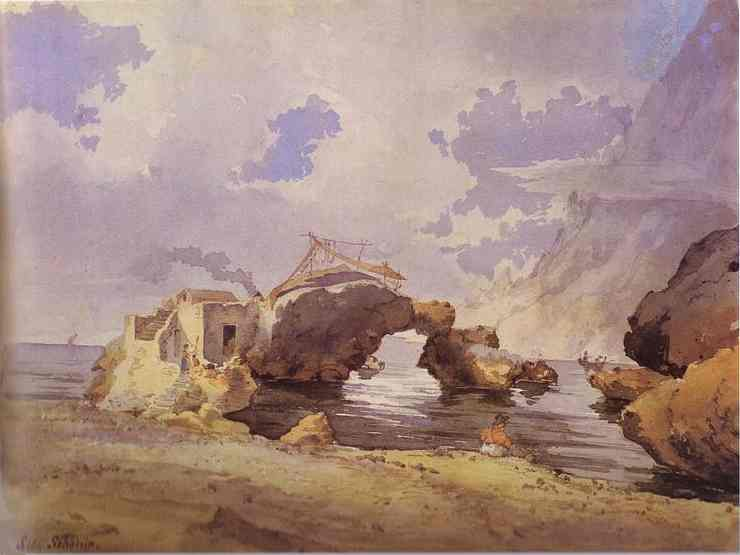 Coastal Scene | Sylvestor Shchedrin | Oil Painting