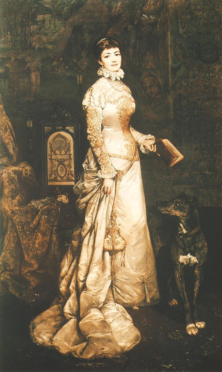 Portrait Of Helena Modrzejewska 1880 | Tadeusz Ajdukiewicz | Oil Painting