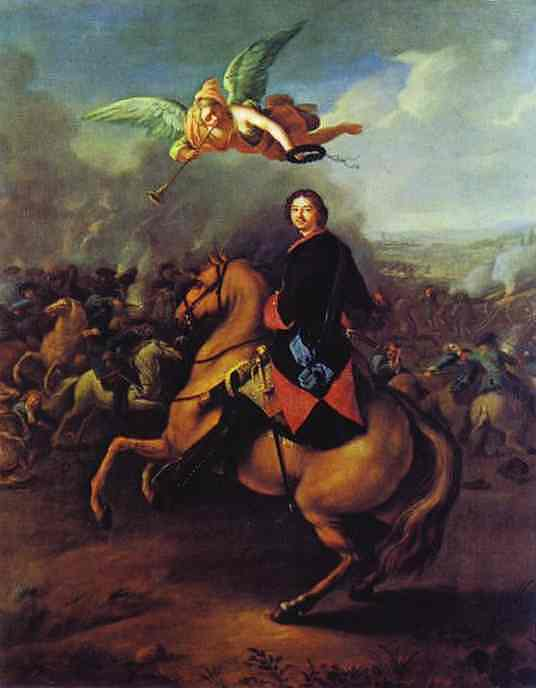 Peter The Great During The Battle Of Poltava 1710s | Tannauer | Oil Painting